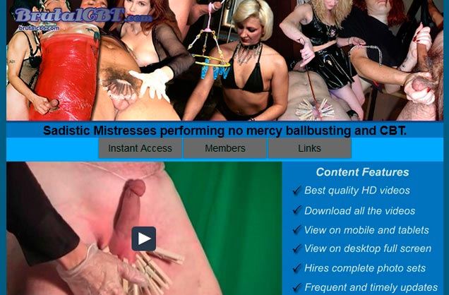 Top pay xxx site focused on balls and dicks tortures.