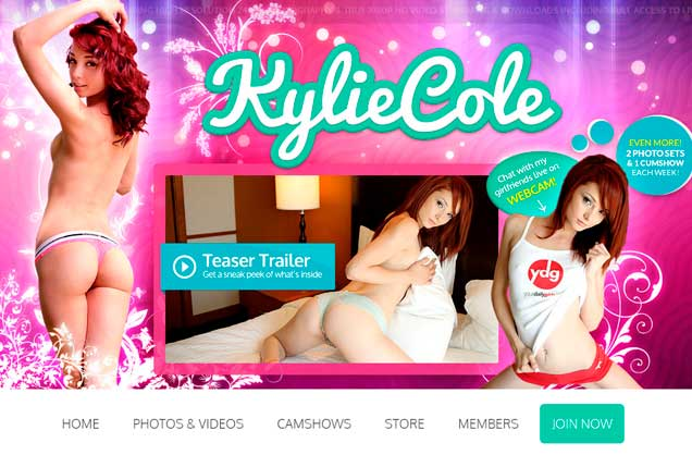 Great pay xxx site starring Kylie Cole and her red hair.