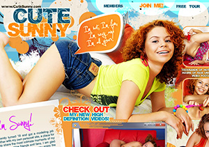 Great xxx pay site featuring the red hair model Cute Sunny