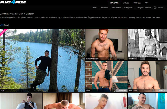 Top premium sex site to watch live hot gay models in uniform
