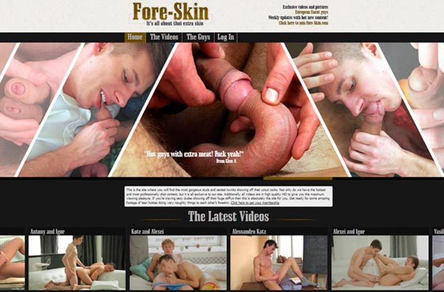 Best premium porn website where the gay boys have uncut cocks