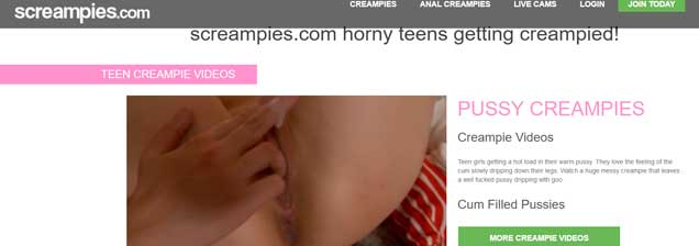 Popular paid sex site featuring hot creampie porn movies