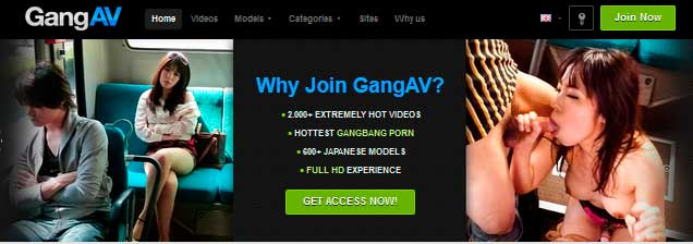 Good pay xxx website with tons of Japanese gangbang porn scenes