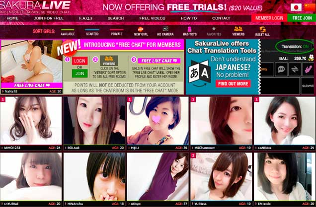Top hd porn website to chat live with hot Japanese chicks